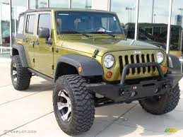 2007 green jeep wrangler 2007 rescue green metallic jeep wrangler unlimited rubicon 4x4