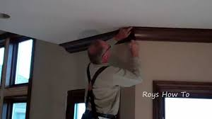 installing cherry ceiling crown molding youtube
