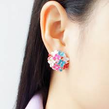 ear studds leaf flower piercing ear studs earrings now lk