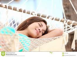 vacation woman in hammock sleeping stock photography image 24466452