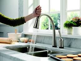 delta kitchen faucets delta pilar pull kitchen faucet with touch2o technology