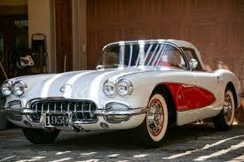 Custom Corvette Interior 1959 Chevrolet Corvette White With Red Interior Fully Restored