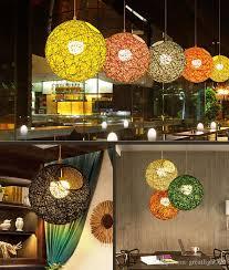 Art Chandelier Discount Hand Woven Modern Chandelier Art Ball Pendant Light