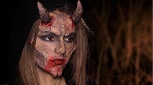 devil halloween make up sfx devil makeup diy horns melania yaneva youtube