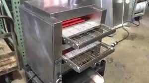 Holman Conveyor Toaster Holman Dt14 Double Conveyor Toaster Video Youtube