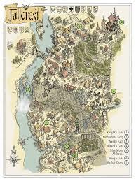 Eragon Map The City Of Fallcrest Crossroads Of The Nentir Vale Minecraft