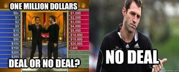 Deal Or No Deal Meme - one million dollars deal or no deal no deal afl meme travis