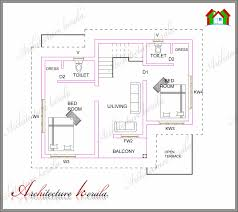 2 Bhk House Plan House Plans In Kerala With 2 Bedrooms Memsaheb Net