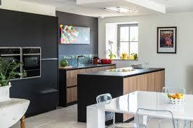 cuisine noir mat cuisine noir mat et bois 2017 et cuisine noir et bois cool photo