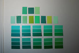 green paint swatches enough shades of green not even close before we say i do