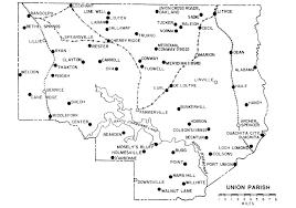 Louisiana Plantations Map by Usgenweb Archives Union Parish Louisiana Post Offices