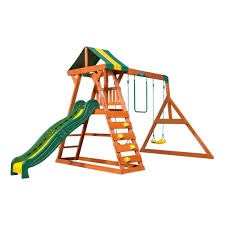 madison wooden swing set playsets backyard discovery