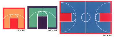 Backyard Basketball Half Court Basketball Courts Deshayes Game Courts