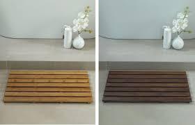 Bamboo Floor Bathroom Magnificent Extra Slim Bamboo Bath Mat For Eco U2013 Friendly Bathroom