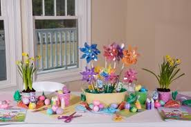Easter Decorations For A Table by Party Themes Host An Easter Egg Hunt With Crafts And Games