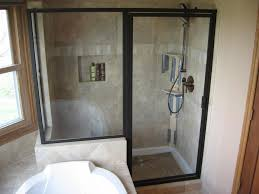 bathroom astonishing black frame glass door shower stalls at