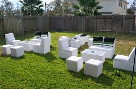 outdoor furniture rental 8 person luxury furniture houston sky high party rentals