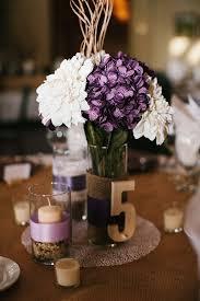 purple centerpieces rustic purple centerpieces carretto studio photography