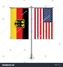 Hanging American Flag Vertically Germany United States Vector Banner Flags Stock Vector 575657476