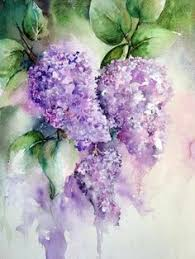 Watercolor Flowers - lavender artwork lavender wall art lavessence