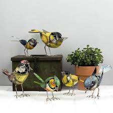 metal bird garden ornaments choice of six by the orchard
