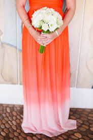 best shades of orange 91 best ombré wedding images on pinterest coral weddings