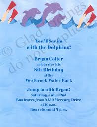 9 best images of dolphin free printable postcard invitations