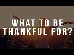 what to be thankful for thanksgiving message