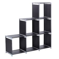 amazon com songmics 3 tier storage cube closet organizer shelf 6