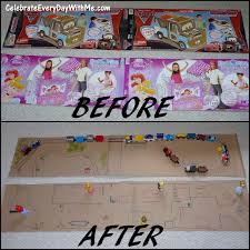 2d cardboard fun train track and doll house project celebrate