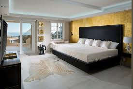 indoor hammock bed bedroom asian with accent wall animal print