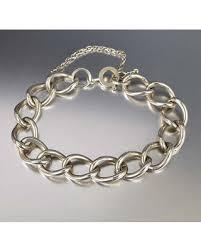 charm bracelet vintage silver images Great deals on vintage silver curb chain bracelet english