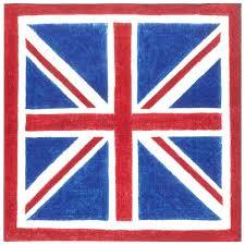 British Flag With Red Amazon Com Entertaining With Caspari Union Jack Paper Cocktail