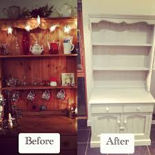 Painted Furniture Ideas Before And After Welsh Dresser Revamp Using Annie Sloan Chalk Paint In Paris Grey