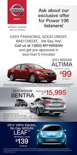 nissan motor acceptance corporation 24 best downey nissan specials images on pinterest