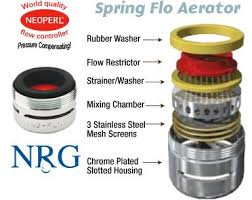 Faucet Flow Restrictor Neoperl Spring Flo 2 2 Gpm Slotted Faucet Aerator Plumbers