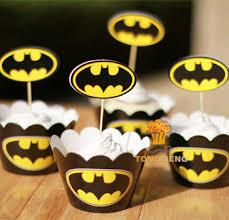 batman baby shower decorations buy batman cupcake wrappers kids decoration birthday party favors