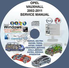 vauxhall opel 2002 2011 service repair manual dvd meriva vectra