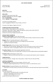Resume Example For Student Resume Examples Umd