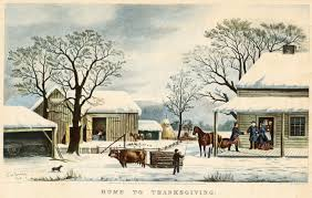 currier and ives print home to thanksgiving thanksgiving