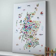 Map Scotland Animal Map Scotland Print By Artpause Notonthehighstreet Com