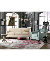 Velvet Tufted Loveseat Chloe Velvet Tufted Loveseat Custom Colors Furniture Macy U0027s
