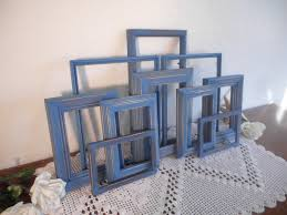 navy blue frame set rustic nautical cape cod shabby chic