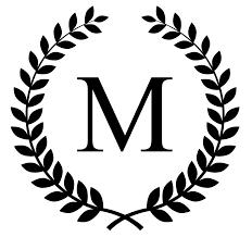 Create Monogram Initials Monogram Initial In Laurel Leaf Frame Vinyl Decal No 163 8 00