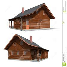 Wood House Plans by Timber Wood House Stock Images Image 23806074