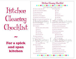 awesome kitchen cleaning check list home design wonderfull classy