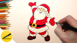 how to draw santa claus step by step easy christmas drawings