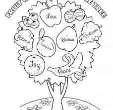 printable coloring pages fruit of the spirit coloring page