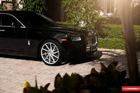 roll royce phantom custom luxurious rolls royce ghost enhanced with custom wheels by vossen