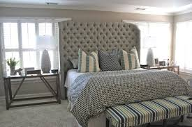 bedroom ideas awesome cool tall tufted headboard king tall